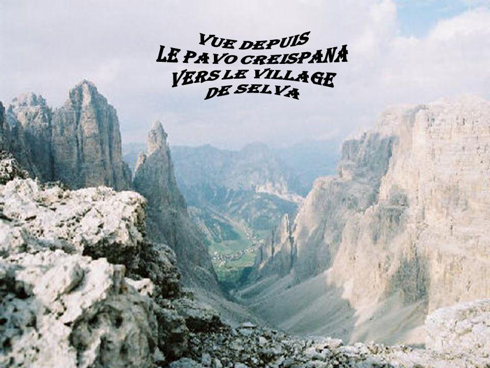 vue depuis le pavo creispana vers le village de selva