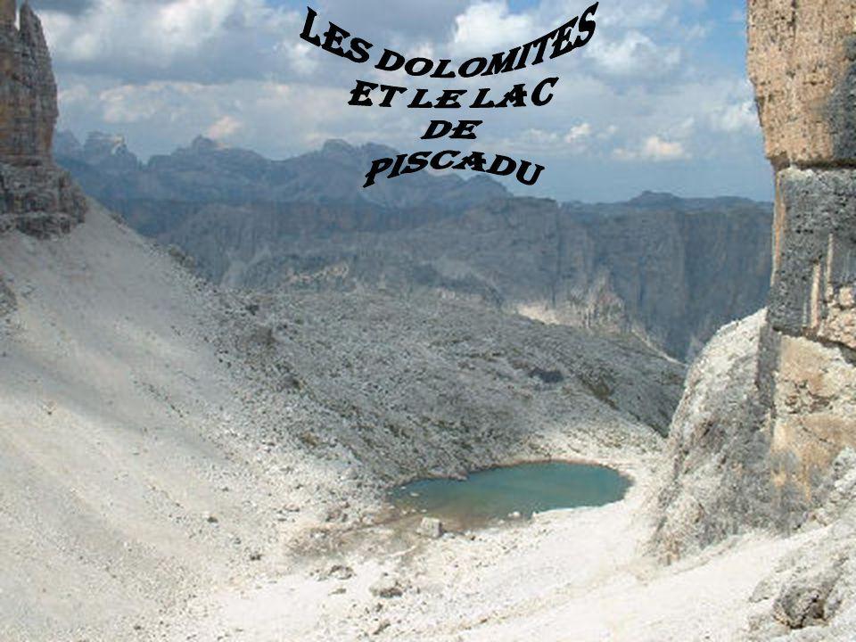 les dolomites et le lac de piscadu