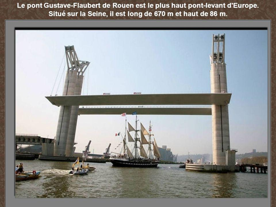 Situé sur la Seine, il est long de 670 m et haut de 86 m.