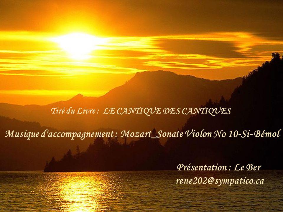 Musique d accompagnement : Mozart_Sonate Violon No 10-Si- Bémol