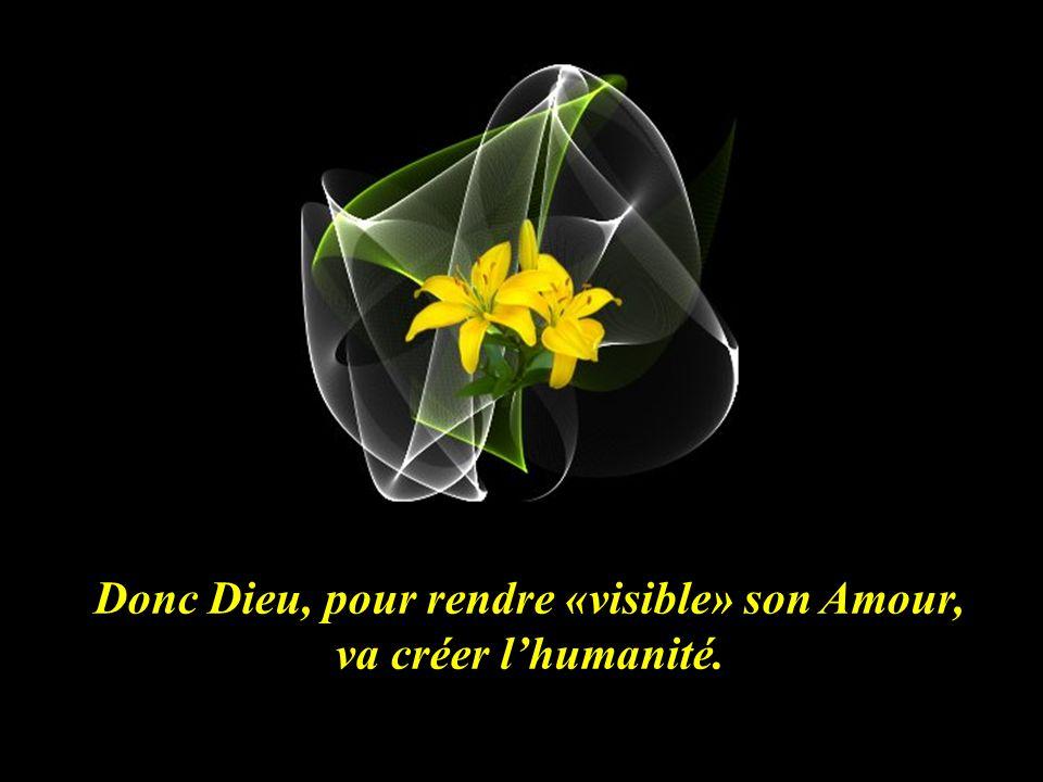 Donc Dieu, pour rendre «visible» son Amour, va créer l'humanité.