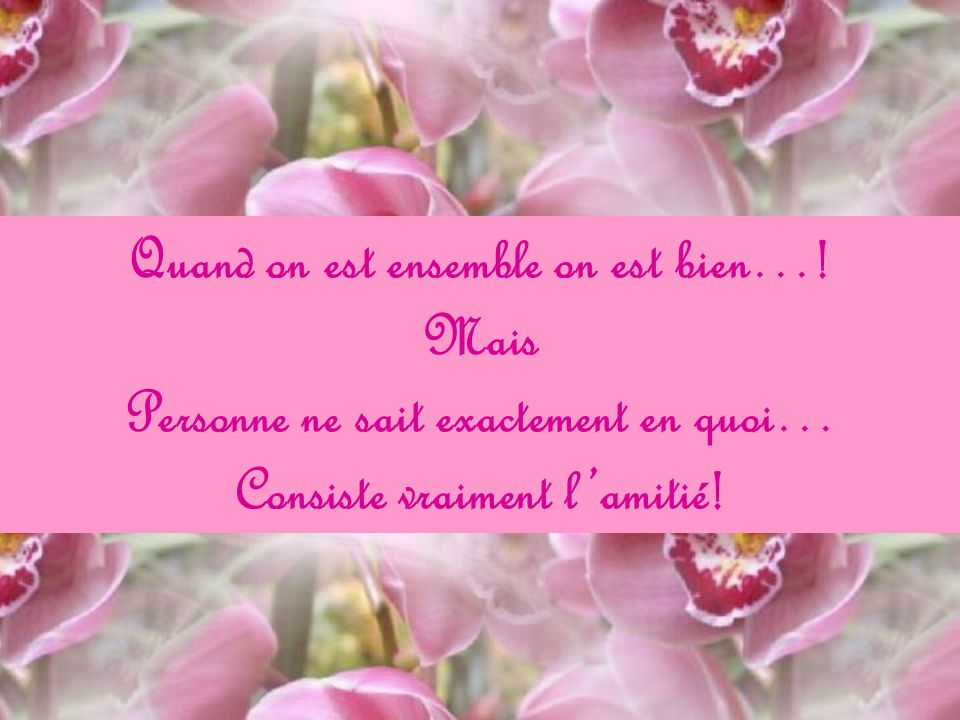 Quand on est ensemble on est bien…! Mais