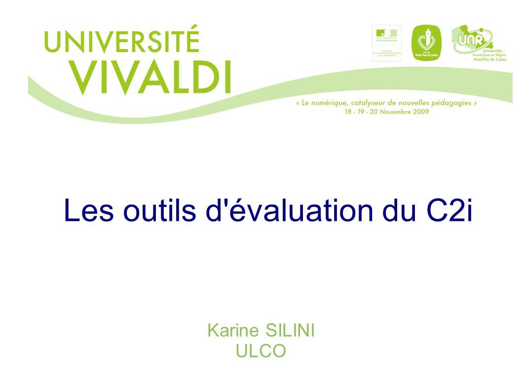 Les outils d évaluation du C2i