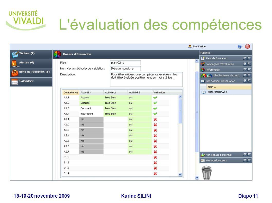 L évaluation des compétences