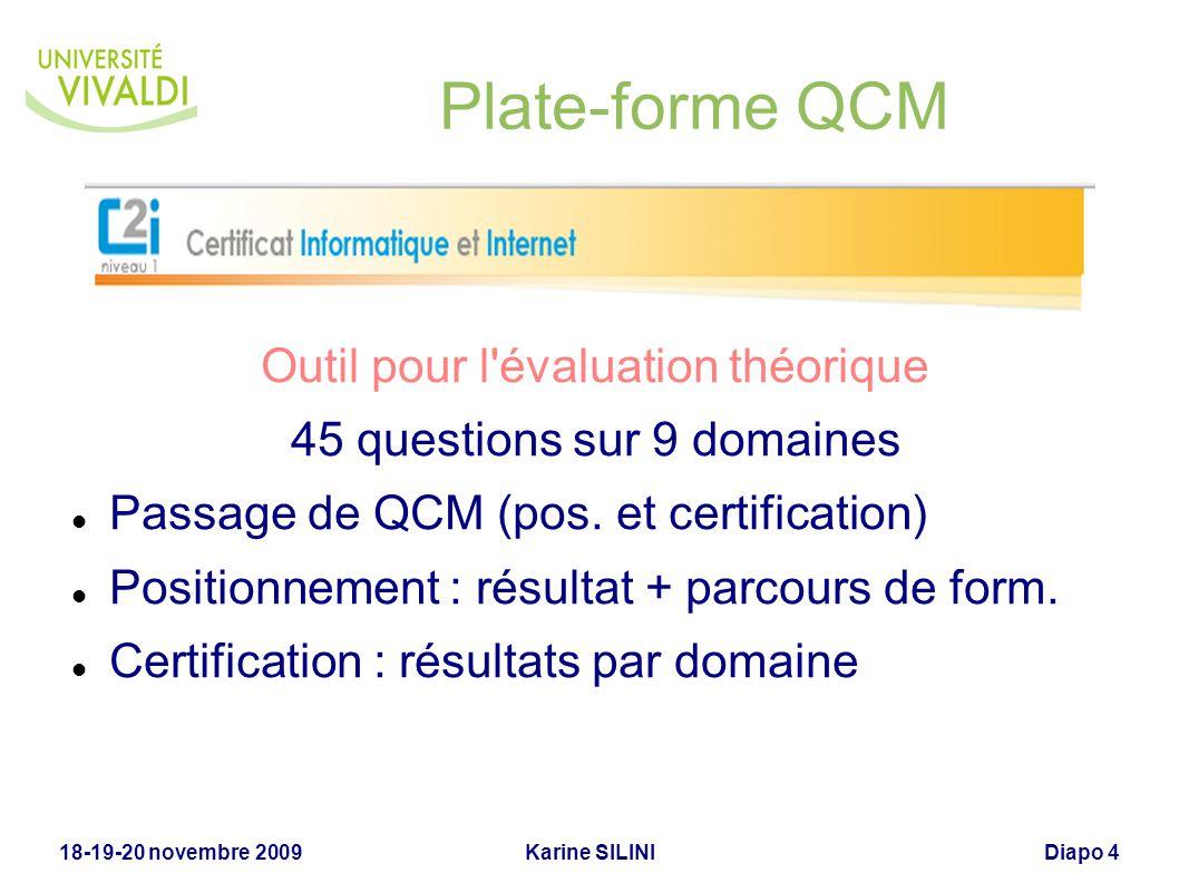 Plate-forme QCM Outil pour l évaluation théorique