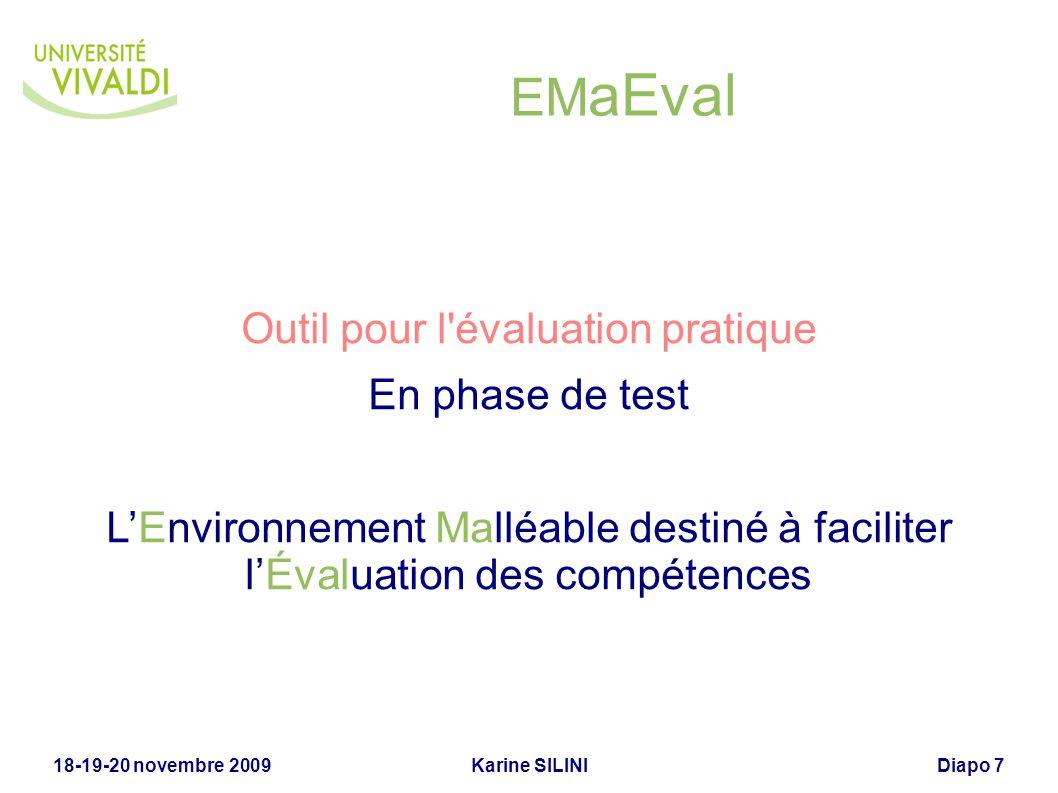 Outil pour l évaluation pratique