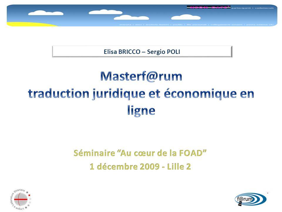 Masterf@rum traduction juridique et économique en ligne