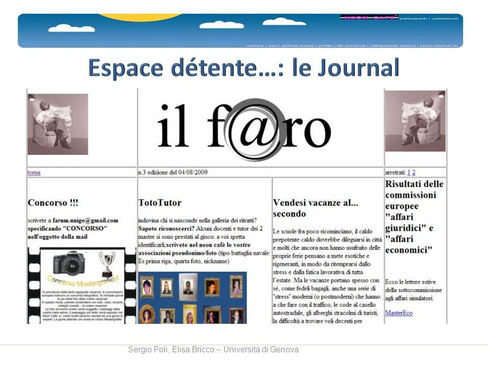 Espace détente…: le Journal