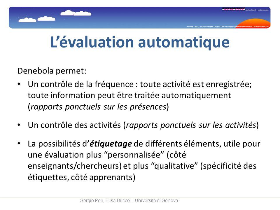 L'évaluation automatique