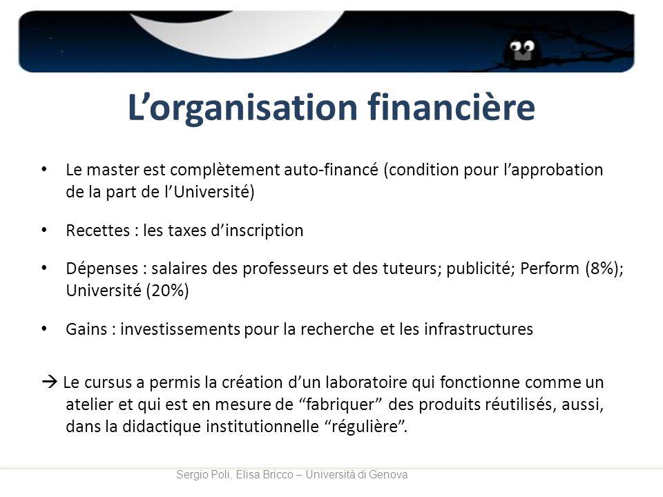 L'organisation financière