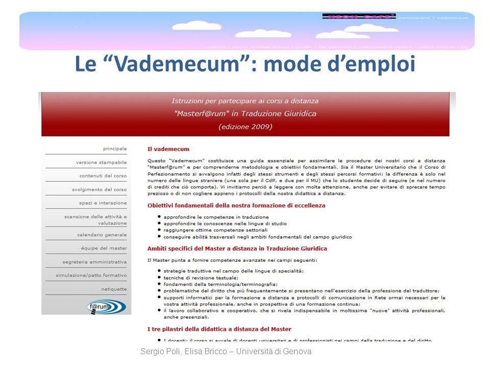 Le Vademecum : mode d'emploi