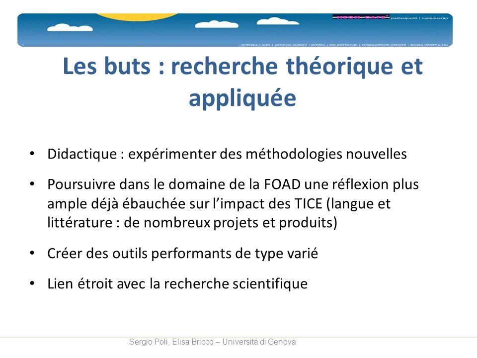 Les buts : recherche théorique et appliquée