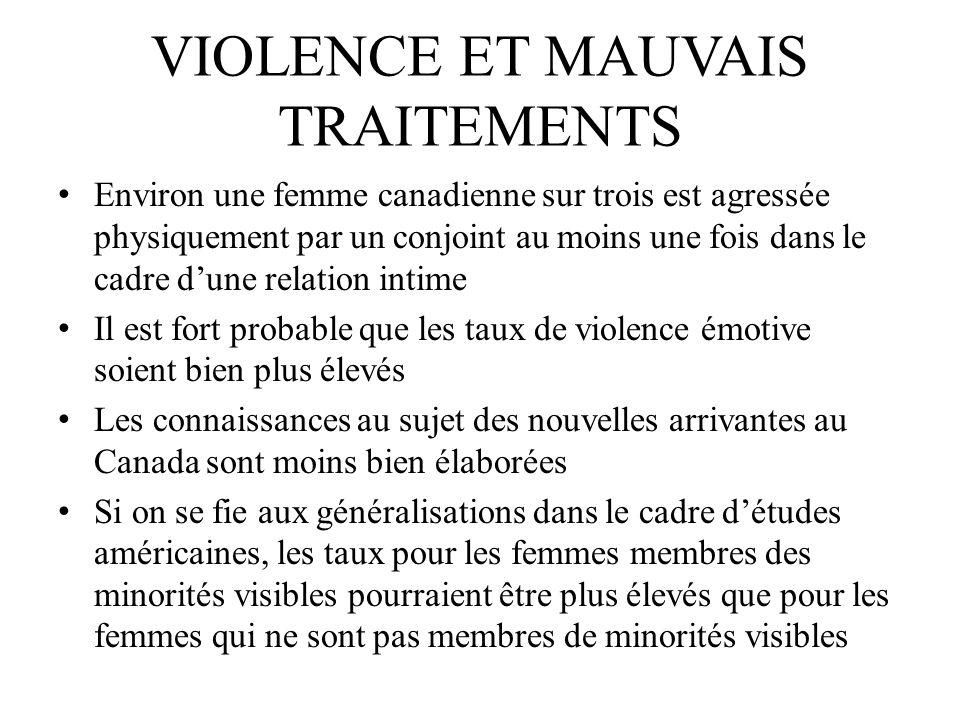 Violence Et mauvais traitements