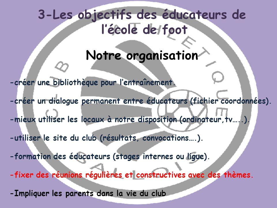 3-Les objectifs des éducateurs de
