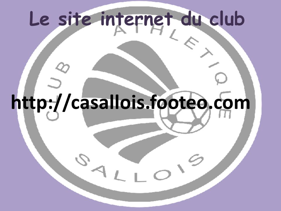 Le site internet du club