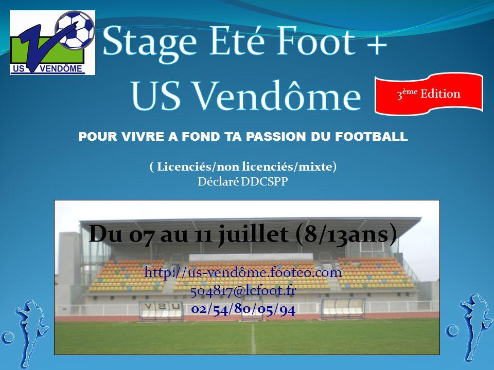 Stage Eté Foot + US Vendôme