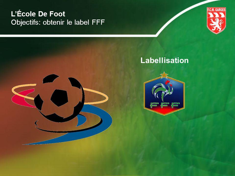 L'École De Foot Objectifs: obtenir le label FFF Labellisation