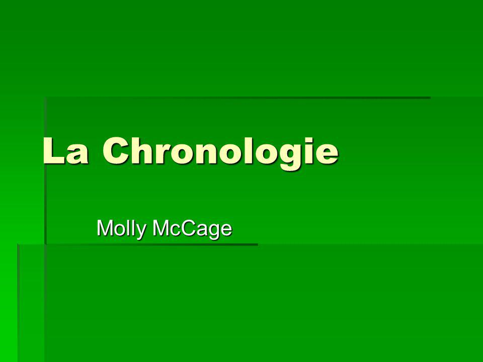 La Chronologie Molly McCage