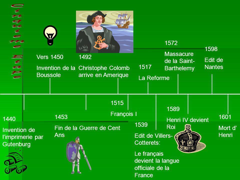 Cinquieme Etape 1572 Massacure de la Saint-Barthelemy 1598