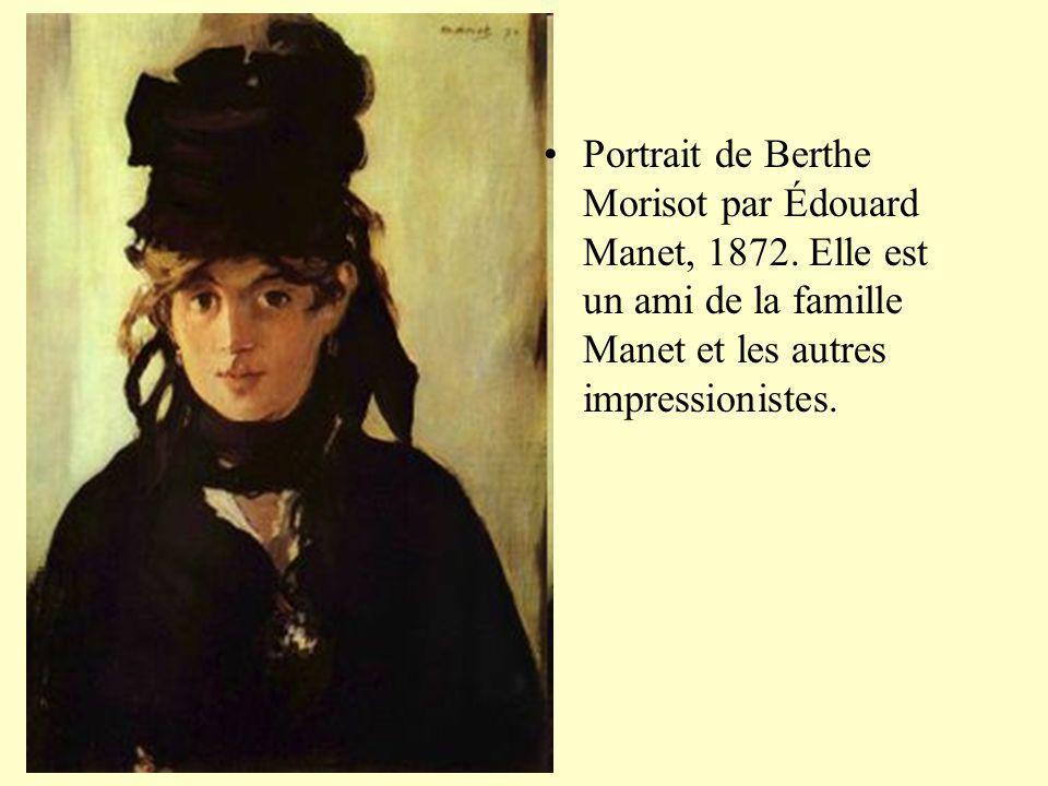 Portrait de Berthe Morisot par Édouard Manet, 1872
