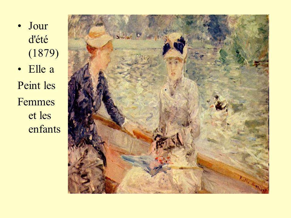 Jour d été (1879) Elle a Peint les Femmes et les enfants