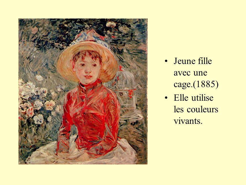 Jeune fille avec une cage.(1885)