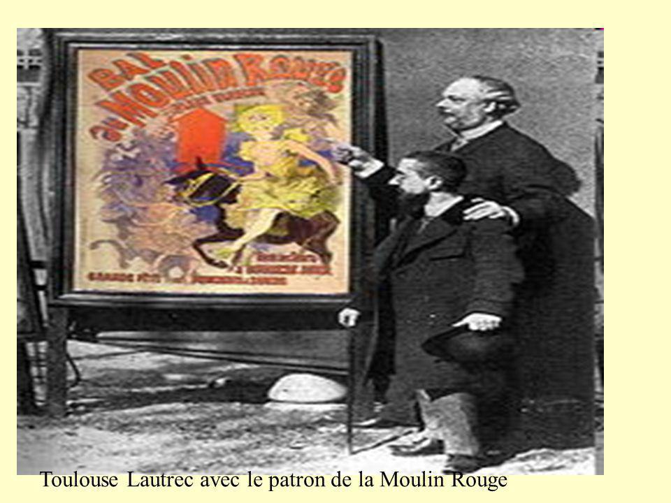 Toulouse Lautrec avec le patron de la Moulin Rouge