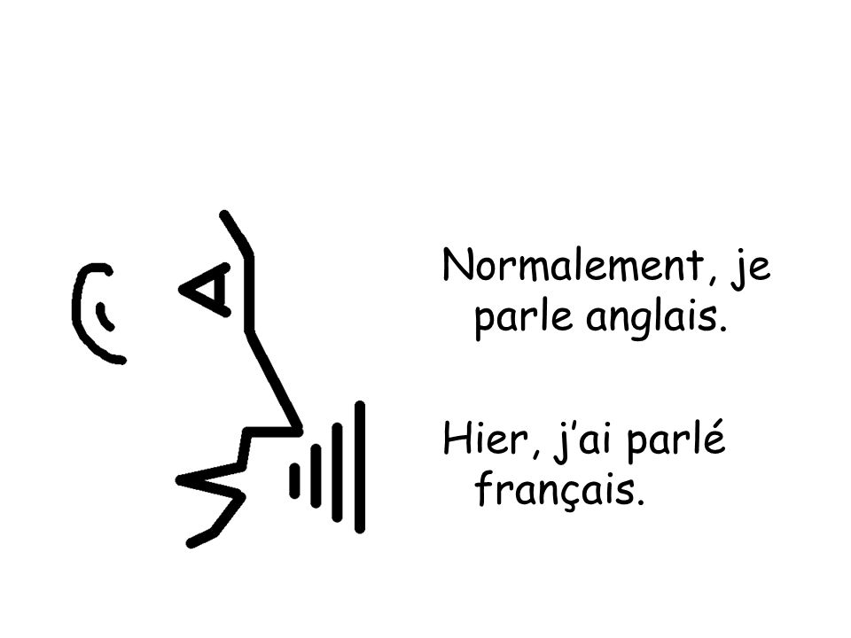 Normalement, je parle anglais.