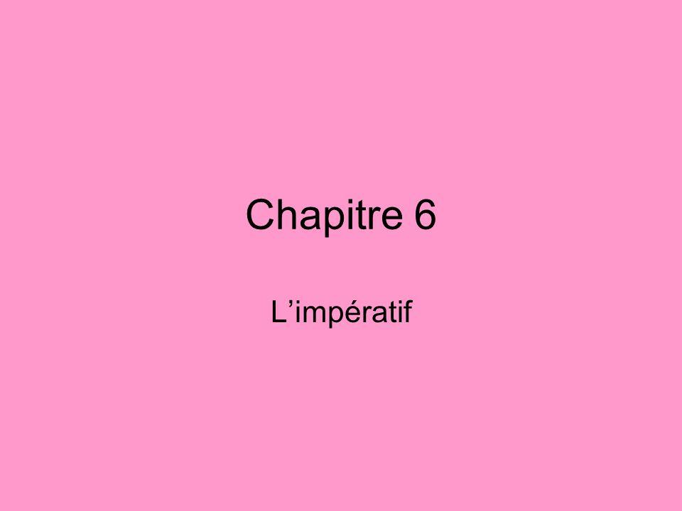 Chapitre 6 L'impératif