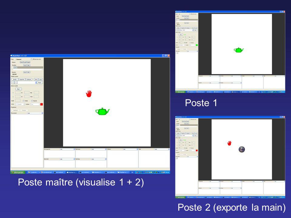 Poste maître (visualise 1 + 2)