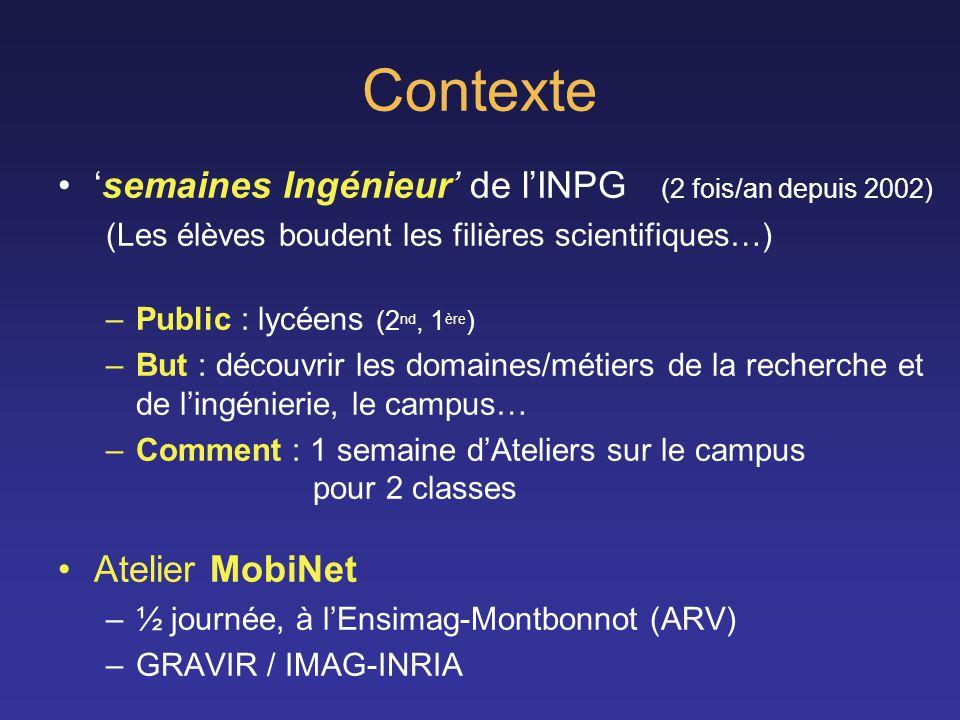 Contexte 'semaines Ingénieur' de l'INPG (2 fois/an depuis 2002)