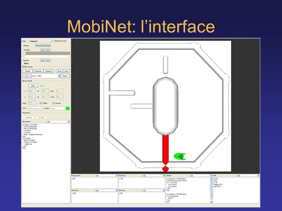MobiNet: l'interface Syntaxe reflechie Montre tout : fini par pong