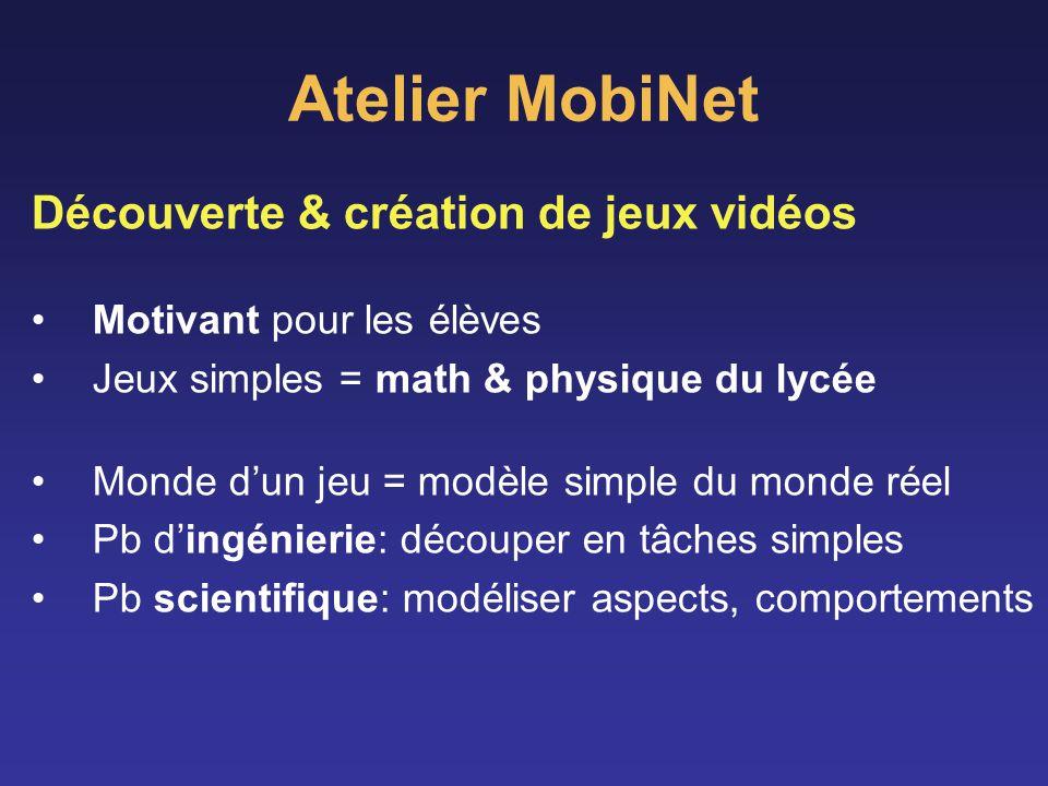 Atelier MobiNet Découverte & création de jeux vidéos