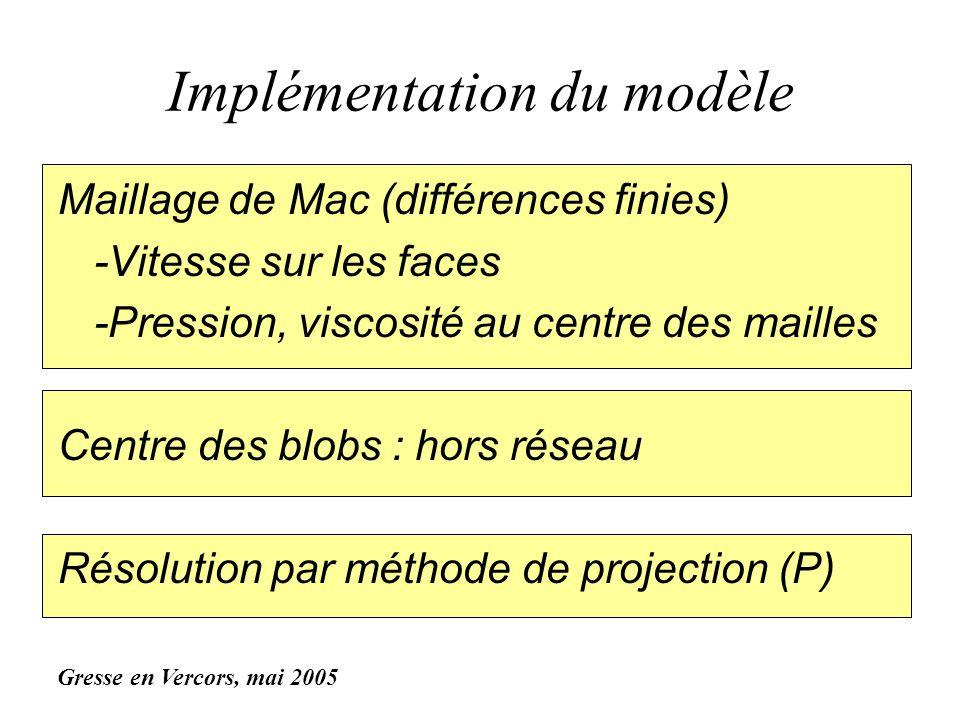Implémentation du modèle