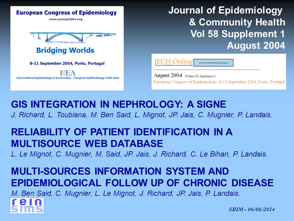 Journal of Epidemiology
