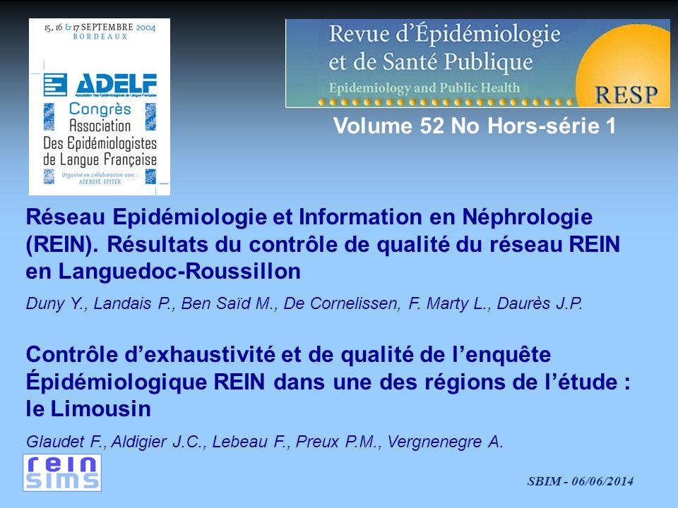 Réseau Epidémiologie et Information en Néphrologie
