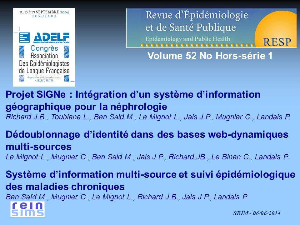 Projet SIGNe : Intégration d'un système d'information
