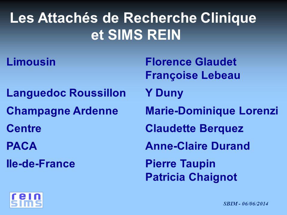 Les Attachés de Recherche Clinique et SIMS REIN