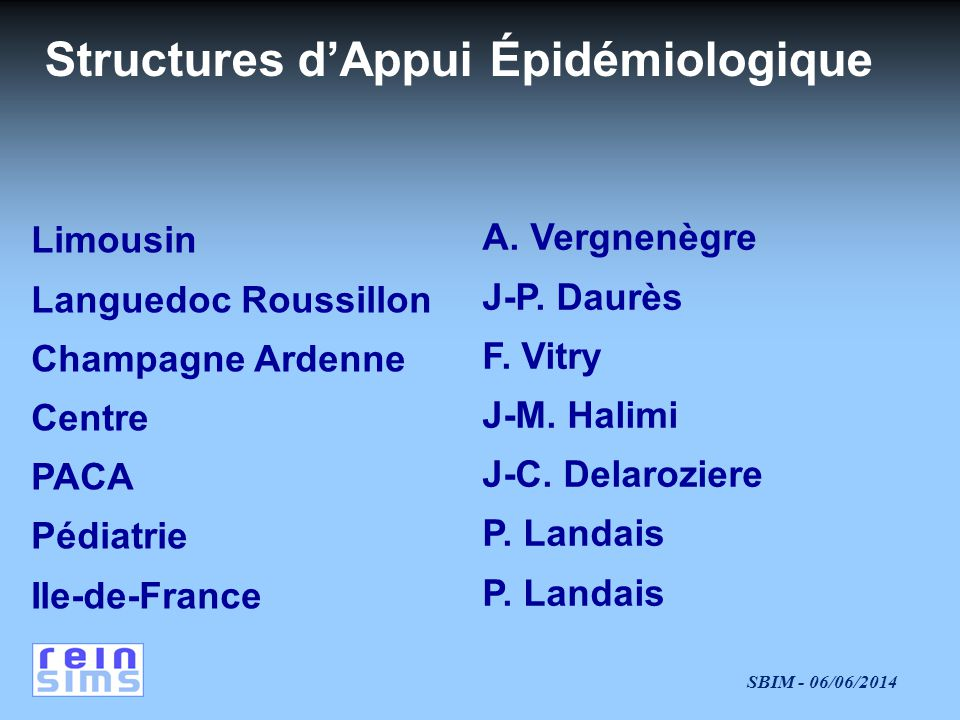 Structures d'Appui Épidémiologique