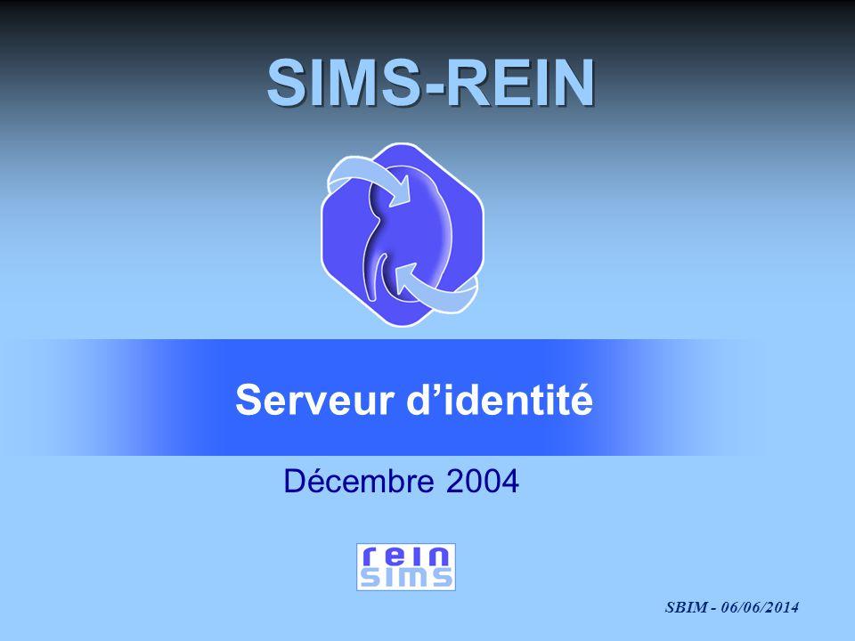 SIMS-REIN Serveur d'identité Décembre 2004
