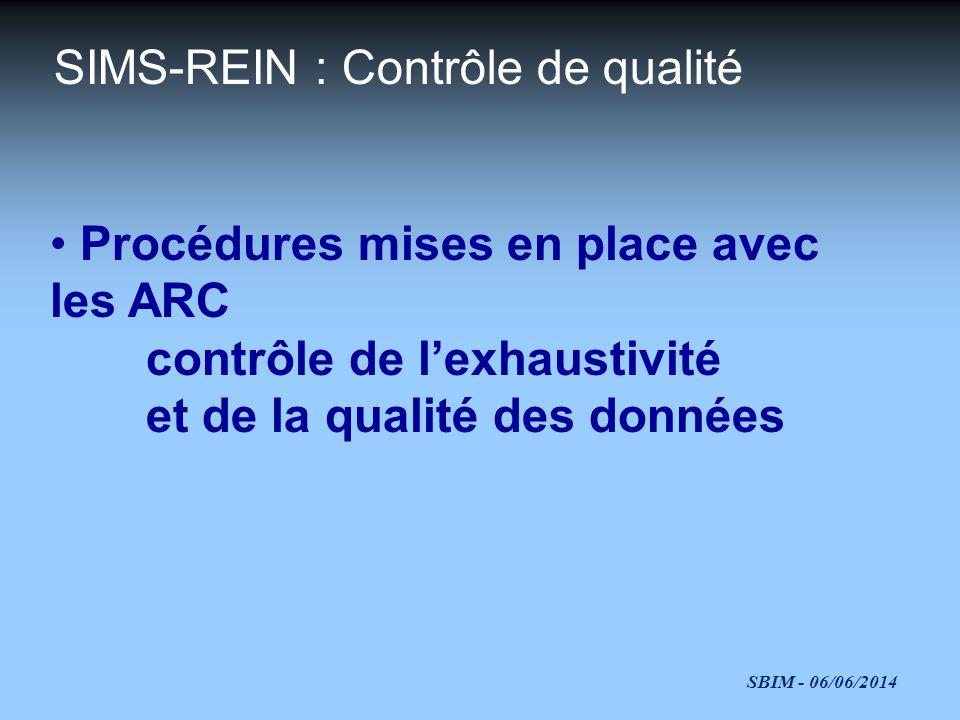 SIMS-REIN : Contrôle de qualité