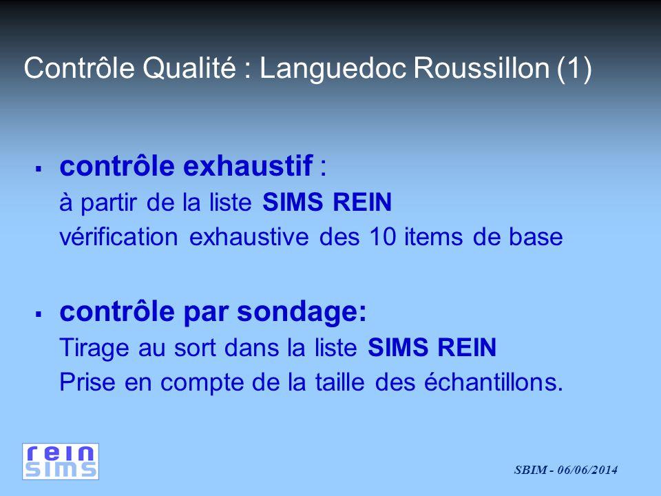 Contrôle Qualité : Languedoc Roussillon (1)