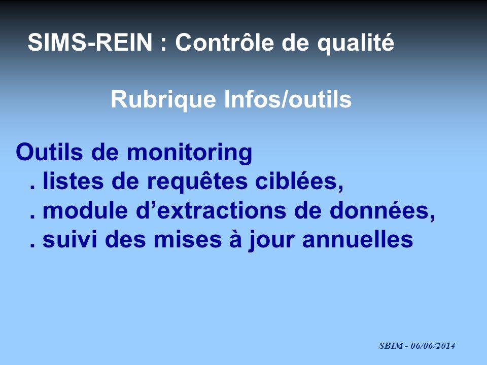 Rubrique Infos/outils