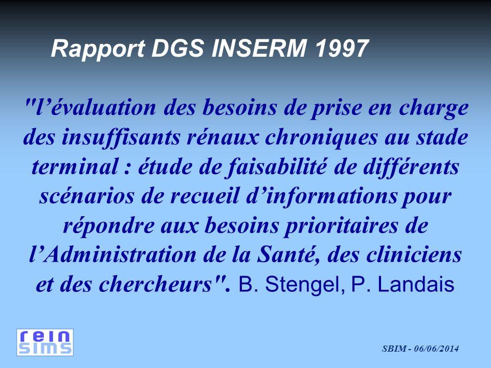 Rapport DGS INSERM 1997