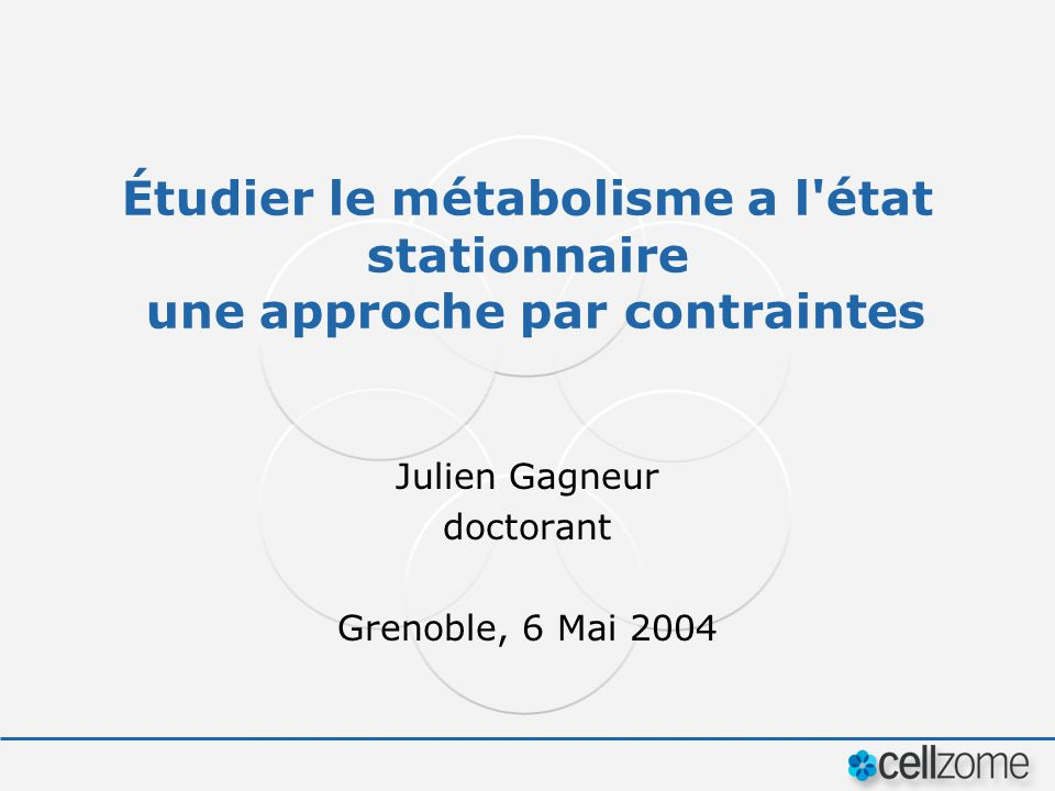 Julien Gagneur doctorant Grenoble, 6 Mai 2004