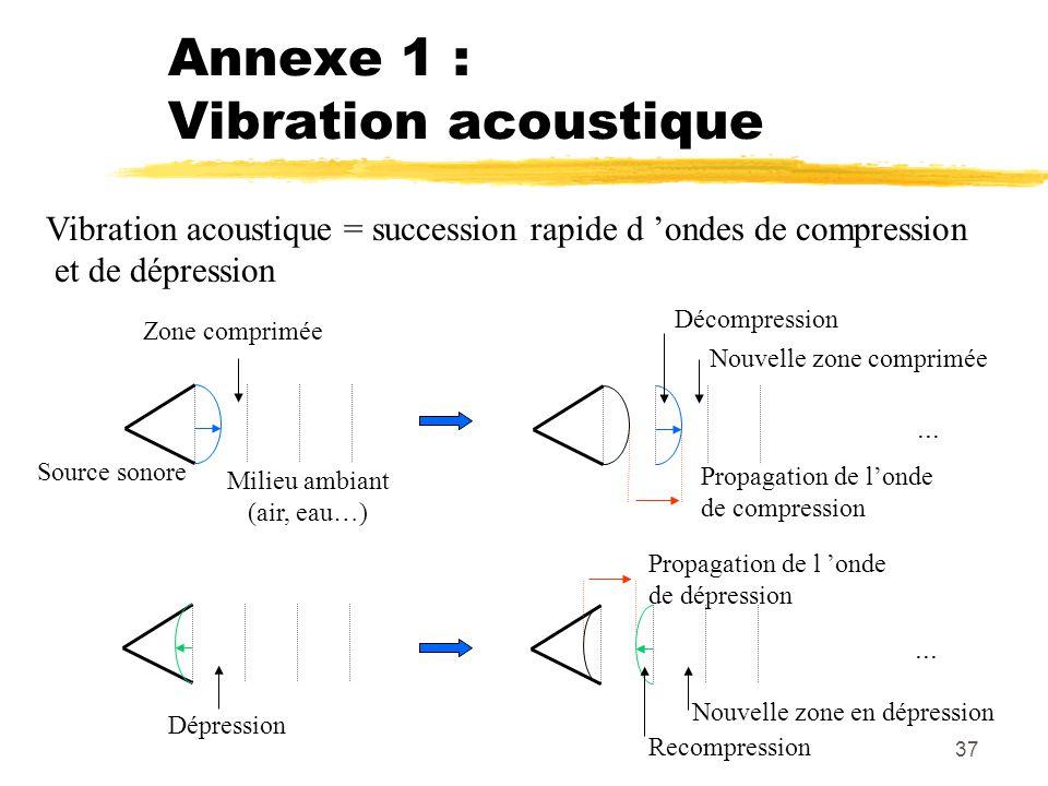 Annexe 1 : Vibration acoustique