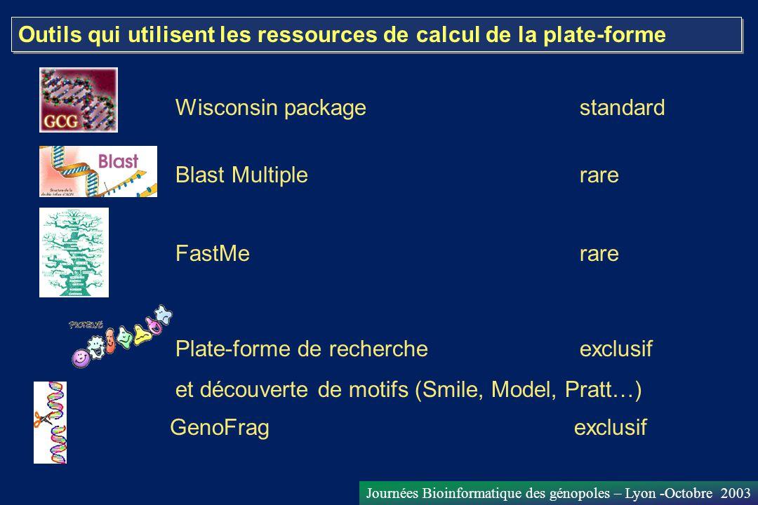 Outils qui utilisent les ressources de calcul de la plate-forme