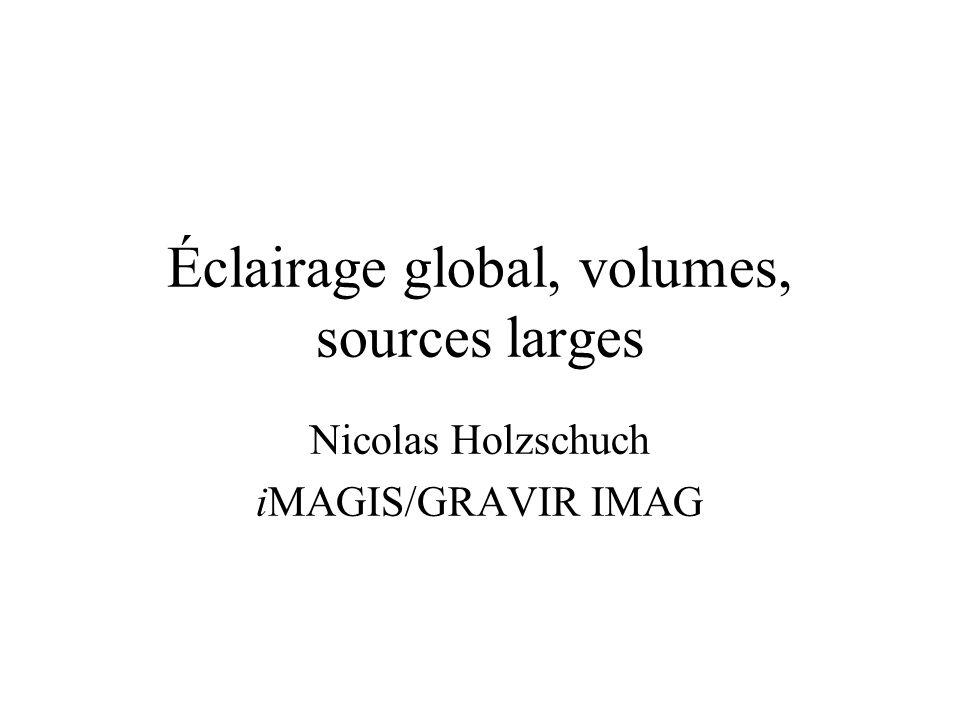 Éclairage global, volumes, sources larges