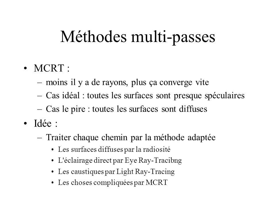 Méthodes multi-passes