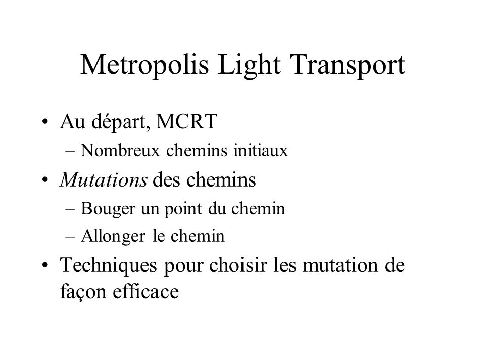 Metropolis Light Transport
